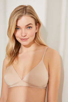 Womensecret Wireless triangular bra бежевый