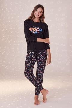 Womensecret Черная хлопковая пижама «Коко» черный
