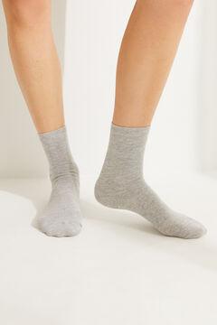 Womensecret Серые носки средней длины с люрексом серый