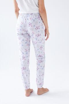 Womensecret Белые длинные брюки из органического хлопка серый