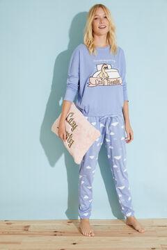 Womensecret Длинная голубая хлопковая пижама голубой