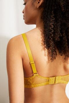 Womensecret Желтый классический бюстгальтер BEAUTIFUL из кружева с наполнителем зеленый