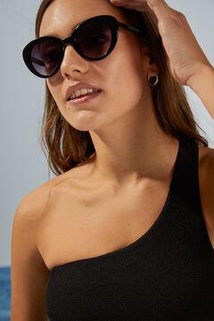 Womensecret Солнцезащитные очки в металлической оправе и футляр с принтом «Снупи» бежевый