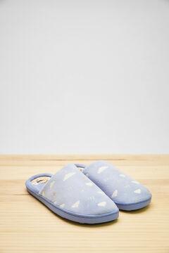 Womensecret Синие домашние тапочки без задника Moderna de Pueblo голубой