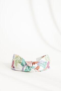 Womensecret Ободок для волос с узлом и цветочным принтом бежевый