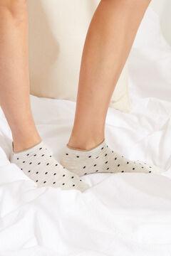 Womensecret Набор из 3 пар носков средней длины с принтом коричневого цвета цветной