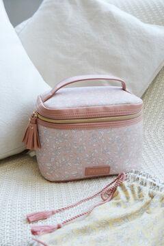 Womensecret Большая косметичка с цветочным принтом розового цвета розовый