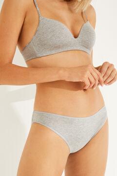 Womensecret 3 cotton classic panties pack серый