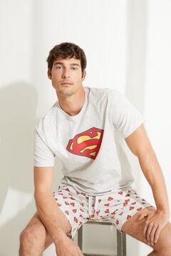 Womensecret Короткая пижама с верхом с короткими рукавами Superman серого цвета серый