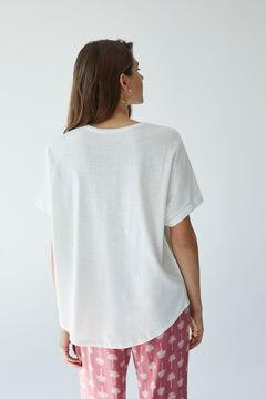 Womensecret Бежевая футболка с короткими рукавами бежевый
