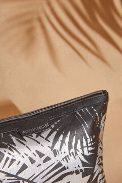Womensecret Косметичка-футляр средних размеров с тропическим принтом  черный