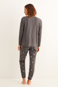 Womensecret Серая длинная пижама «Снупи»  серый