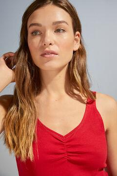 Womensecret Красный топ на бретелях в рубчик красный