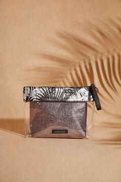 Womensecret Набор из 2 косметичек с тропическим принтом серый