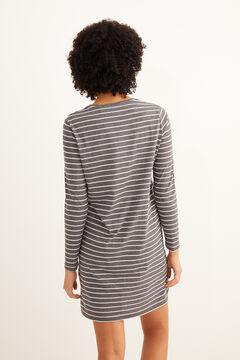 Womensecret Короткая ночная рубашка в полоску «Гарфилд» серый