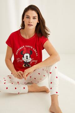 Womensecret Пижама из хлопка «Минни Маус» красный