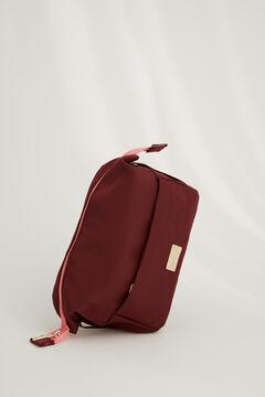 Womensecret Бордовая косметичка среднего размера типа корзинки цветной