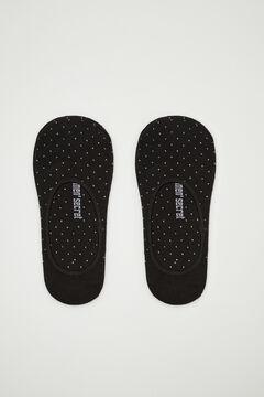 Womensecret Короткие хлопковые носки с люрексом  черный