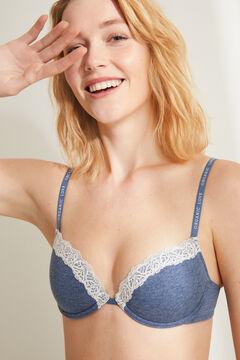 Womensecret BEAUTIFUL Синий бюстгальтер с наполнителем голубой