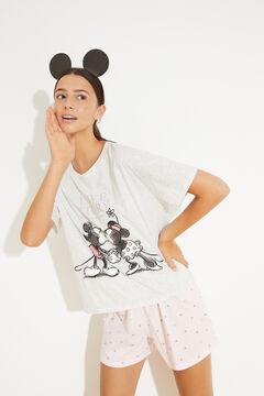 Womensecret Короткая хлопковая пижама серый