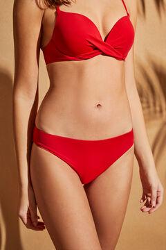 Womensecret Классические трусики-бикини красного цвета красный