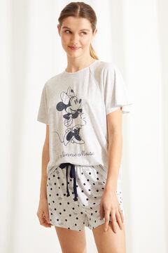 Womensecret Короткая пижама из мягкого трикотажа серого цвета «Минни Маус» серый