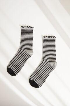 Womensecret Серые носки средней длины с принтом в горошек серый