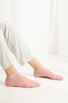 Womensecret Короткие хлопковые носки розового цвета розовый