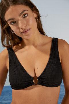 Womensecret Топ бикини халтер черного цвета черный