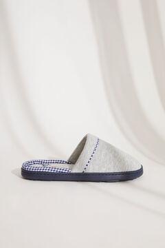 Womensecret Домашние тапочки без задника серого цвета с текстурой серый