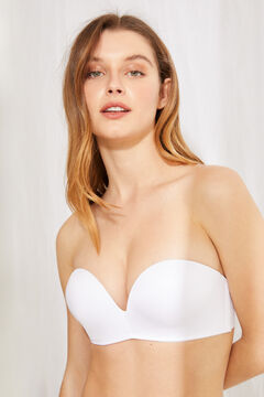 Womensecret Wireless super push up strapless bra белый