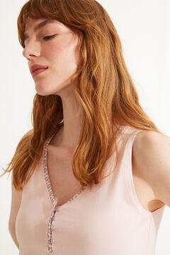 Womensecret Короткая пижама из 100 % экологичного хлопка розового цвета розовый