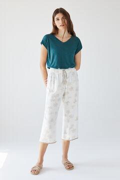 Womensecret Длинные брюки с пальмами бежевый