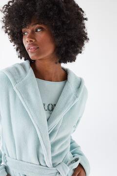Womensecret Зеленый бархатный халат зеленый