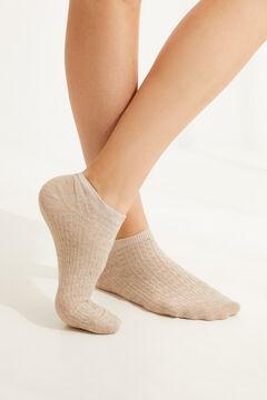 Womensecret Короткие хлопковые носки телесного цвета бежевый