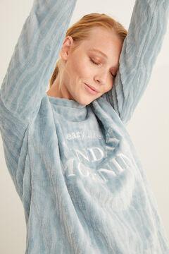 Womensecret Синяя длинная пижама с принтом «Зебра» зеленый