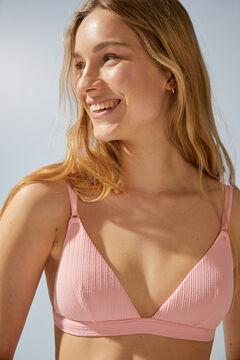 Womensecret Топ-бикини с треугольными чашками в рубчик розового цвета розовый