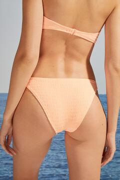 Womensecret Классические трусики-бикини из фактурной ткани розовый