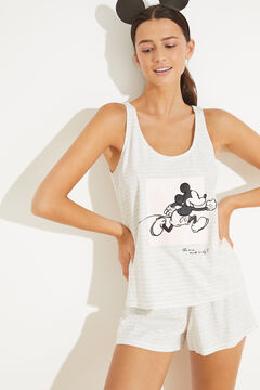 Womensecret Короткая пижама с верхом на бретелях из хлопка серый