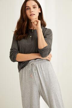 Womensecret Серые брюки-джоггеры в полоску цветной