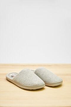 Womensecret Серые домашние тапочки без задника «Коко» серый