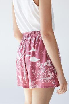 Womensecret Шорты с тропическим принтом розовый