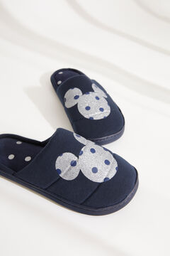 Womensecret Домашние тапочки без задника «Микки-Маус» синего цвета голубой