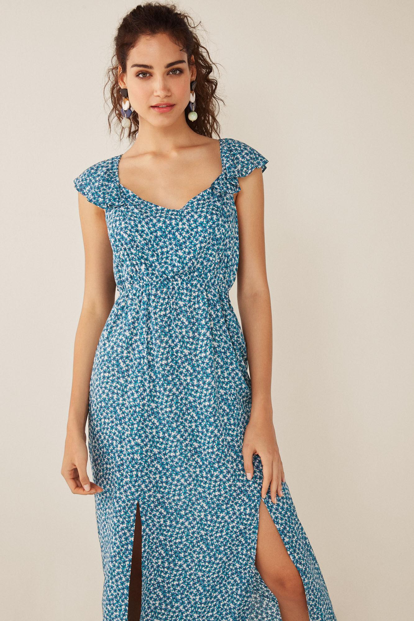 ab894e52b Длинное платье с цветочным принтом | Платья и комбинезоны | Women'secret