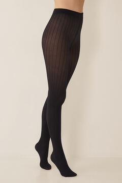 Womensecret Колготки с текстурным узором черный