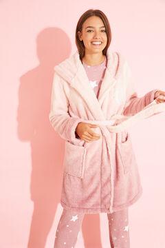 Womensecret Розовый халат миди из филса розовый