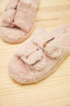 Womensecret Розовые открытые домашние тапочки розовый
