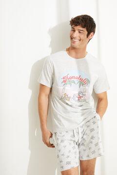 Womensecret Короткая пижама с верхом с короткими рукавами серого цвета Honolulu серый