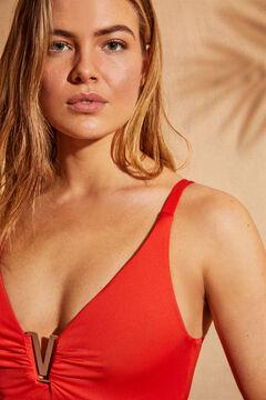 Womensecret Купальник с треугольным вырезом EXTRA SUPPORT  красный