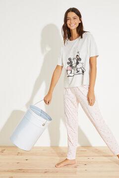 Womensecret Длинная пижама с хлопком «Минни и Минни Маус» серый
